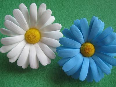 Цветы из фоамирана - ромашки МК. How to make Foam Flower camomile , DIY, Tutorial Foam