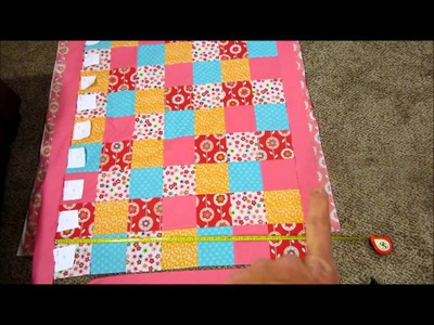 DIY Baby Quilt Tutorial Part 1