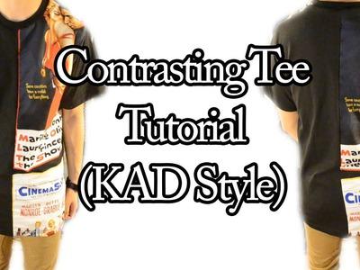 DIY: Contrasting Tee Tutorial (KAD Style)