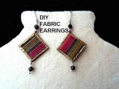 DIY FABRIC EARRINGS - paper beads - Jewelry Making