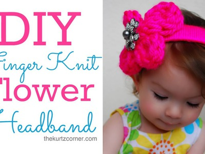 DIY Finger Knitting a Flower Headband