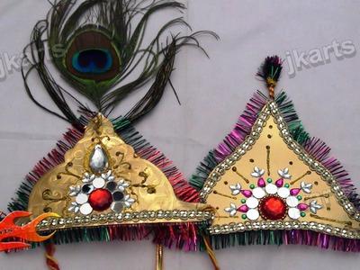 DIY How to make Mukut for God (Crown. Designer Tiara) - JK Arts 168