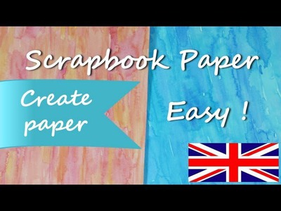 DIY How to paper *Make Paper for Scrapbook Ideas* Paper for Craft Scrap Cardstock Pintura Facil