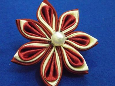 D.I.Y. Kanzashi Flower - Simple & Easy Tutorial
