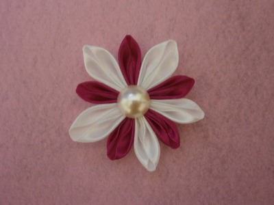 DIY kanzashi flowers, how to, tutorial,fabric flowers,easy