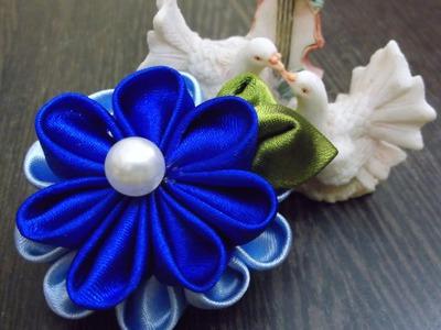 D.I.Y. Kanzashi Satin Flower 簪サテン花 - Tutorial