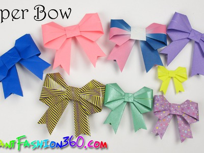 DIY Paper Crafts: Paper Bow.Ribbon cute and easy - How to Origami