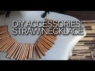 DIY: Statement Straw Necklace Tutorial