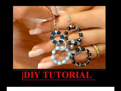 DIY TUTORIAL orecchino a cerchio cristalli easy earrings fai da te handmade