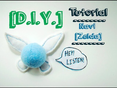 [DIY] Tutorial - Peluche Navi. Navi Plush [The Legend of Zelda]