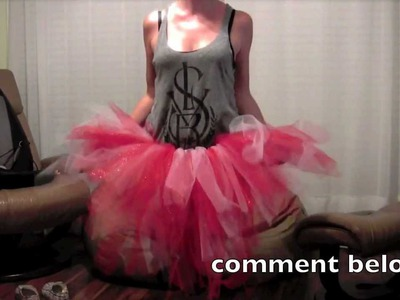 DIY TUTU how to CHEAP NO SEW TUTU craft project TGIRLCRAFTS