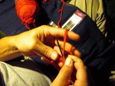 Double knitting 2 socks tutorial pt 1 of 3