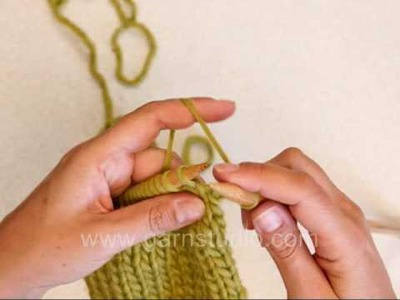 DROPS Knitting Tutorial: How to knit a edge stitches in stockinette