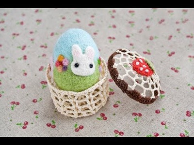 Easter Crafts - Needle Felted Easter Egg Tutorial