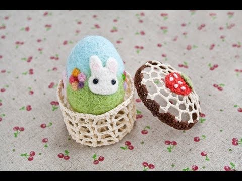 Easter Crafts - Needle Felted Easter Egg Tutorial