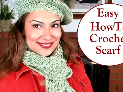 Easy How-to Crochet Spring Scarf Tutorial
