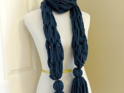 Episode 45: How to Make the Arm Knit Tassel Scarf