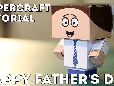 Father's Day paper craft figures - Create the perfect FREE gift for your dad in our video tutorial