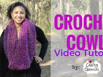 Flattering Cowl Crochet Tutorial & Yarn Giveaway