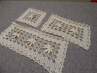 Flor 3D Rectangular Crochet parte 1 de 3