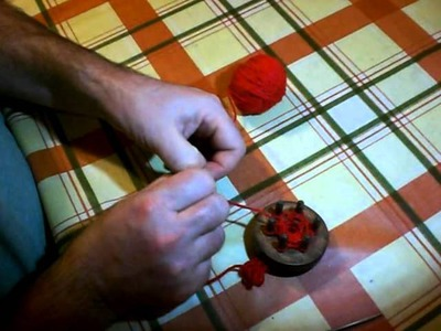 French Knitting instructions using a home made wooden device