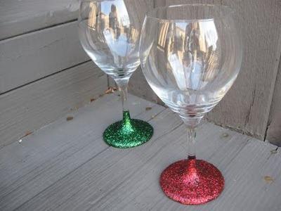 Glitter Stemware Craft Tutorial