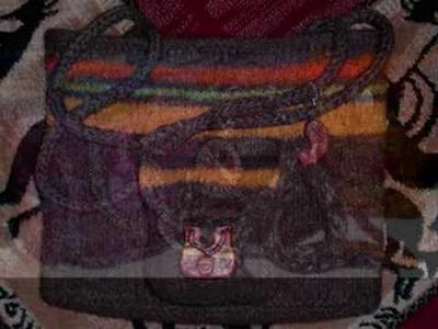 Handmade Knit Felting Wool Purses Computer Bags