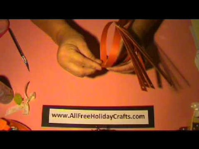 How To Create a Pumpkin With Paper Strips