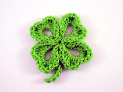 How to Crochet a Four Leaf Clover