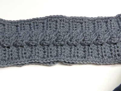 HOW TO CROCHET A HEADBAND USING CABLE CROCHET STITCH