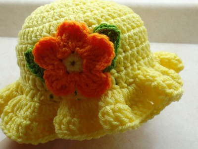 How To #Crochet Baby Crochet Toddler Springtime Hat #TUTORIAL DIY Crochet Free Crochet
