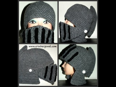 How to Crochet Boy's & Man's Knight Helmet Hat (Mask) Part 4