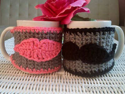 How To Crochet Glama's His & Hers Cup Cozies