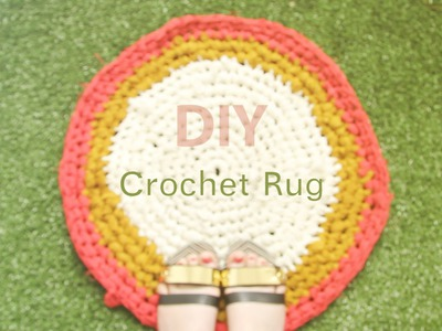 How To Crochet: Make a Fabric Rag Rug DIY Tutorial
