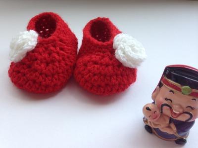 How to : Crochet newborn baby booties
