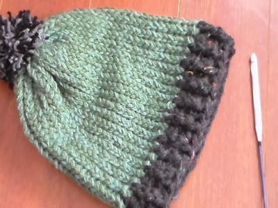 How to crochet ribbing on loom knit hat