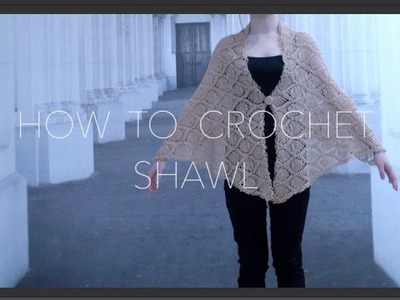 How To Crochet Shawl (Pineapple Pattern) part 1 of 2