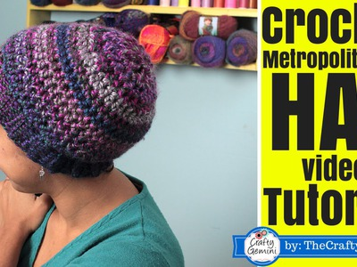 How to Crochet Slouchy Boho Hat- Metropolitan Ave. Hat