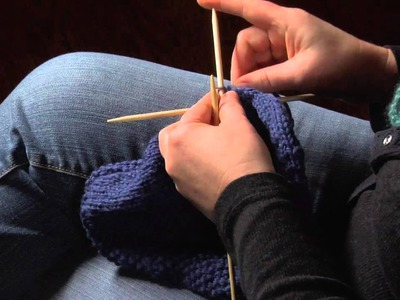 How to Finish a Knitted Hat by Threading Yarn Through the Remaining Stitches : Knitting Hats