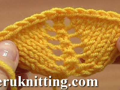 How to Increase In Knitting Using Yarn Overs Tutorial 8 Part 11 of 14 Decorative Increasing