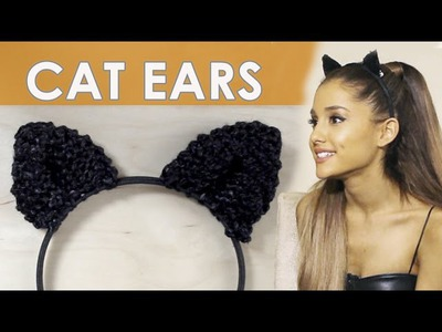 How to Knit Cat Ears Like Ariana Grande Wears for New Years