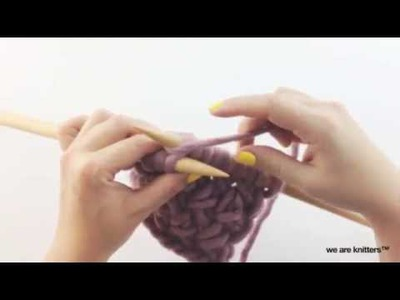 How to knit cross stitch | We Are Knitters