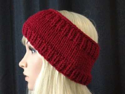 How to Knit Earwarmers.Headband by ThePatterfamily Pattern #5 │by ThePatterfamily