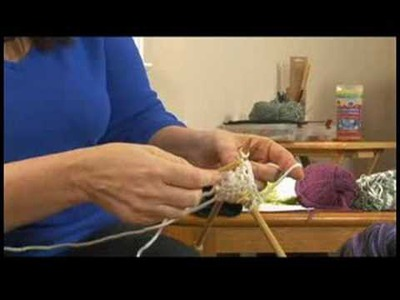 How to Knit : Knitting Scarves: Fix Dropped Stitch