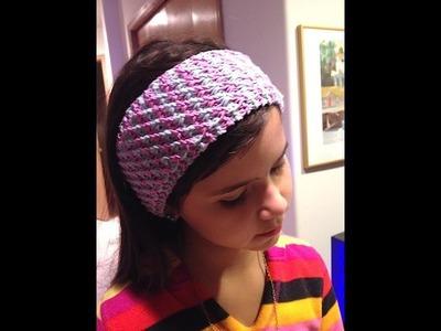 How To Knit Star Stitch Headband - Knitting Tutorial Video On 2-colors Star Stitch Headband