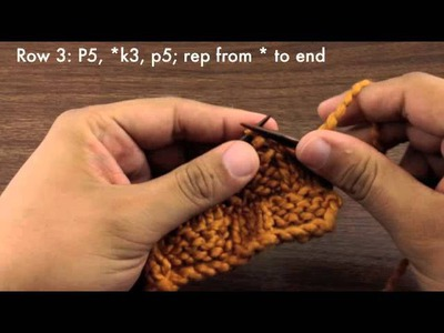How to Knit the Basketweave Stitch (English Style)