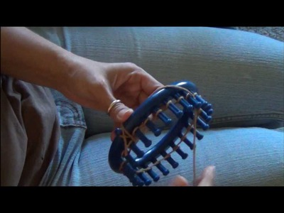 How to Knit the Purl Stitch on a Knifty Knitter Knitting Loom