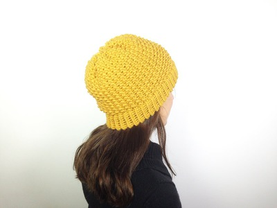 How to Loom Knit a Hat in Seed Stitch (DIY Tutorial)