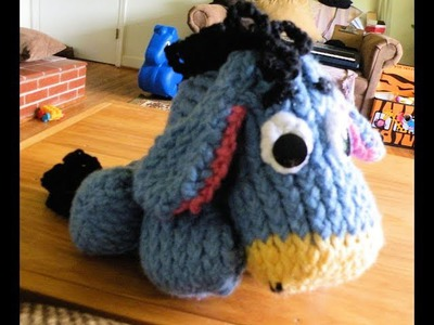 How to Loom Knit Eeyore Part 1 Head