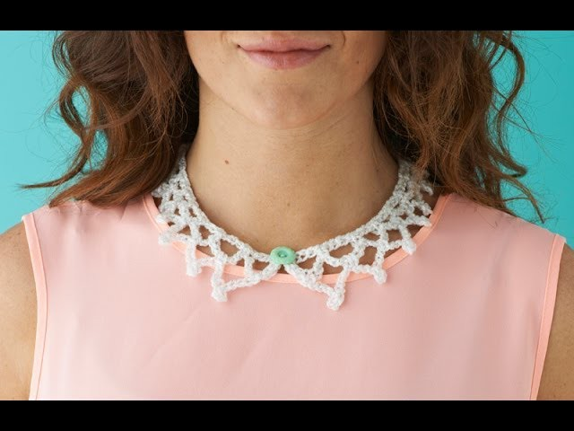 How to make a crochet collar